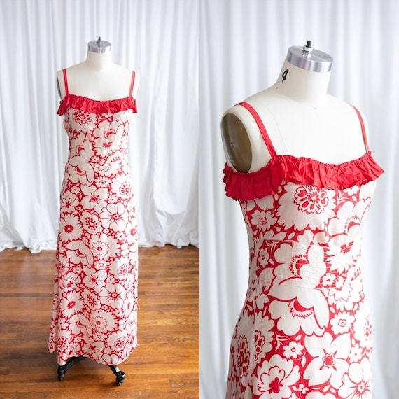 Heartbreaker dress | vintage 30s gown | 1930s red