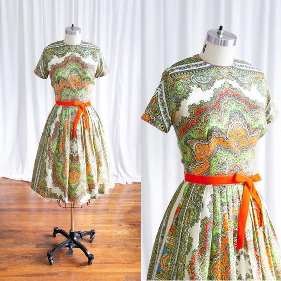 Kaleidoscope dress | vintage 50s dress | 1950s rai