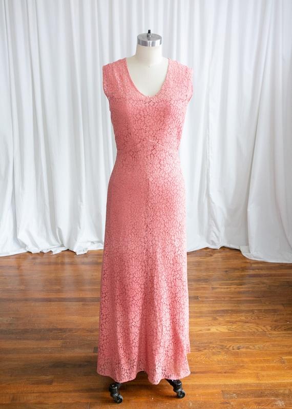 Sweet Rose dress   vintage 30s dress   1930s pink… - image 3