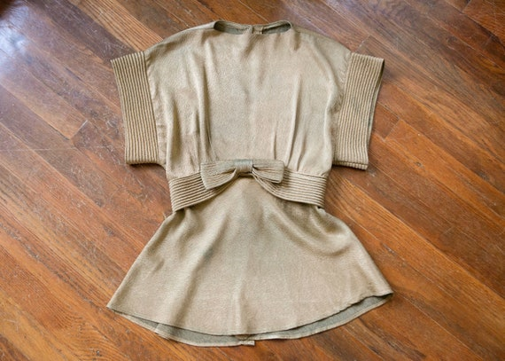 Selene gown | vintage 30s dress | 1930s gold lame… - image 7