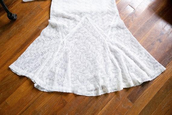 Luna dress   vintage 30s dress   1930s white nett… - image 9