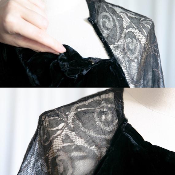 Enigma gown | vintage 30s velvet gown | 1930s bla… - image 9