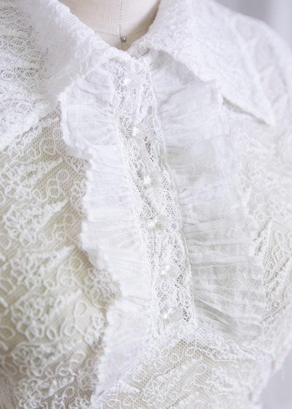 Luna dress   vintage 30s dress   1930s white nett… - image 6