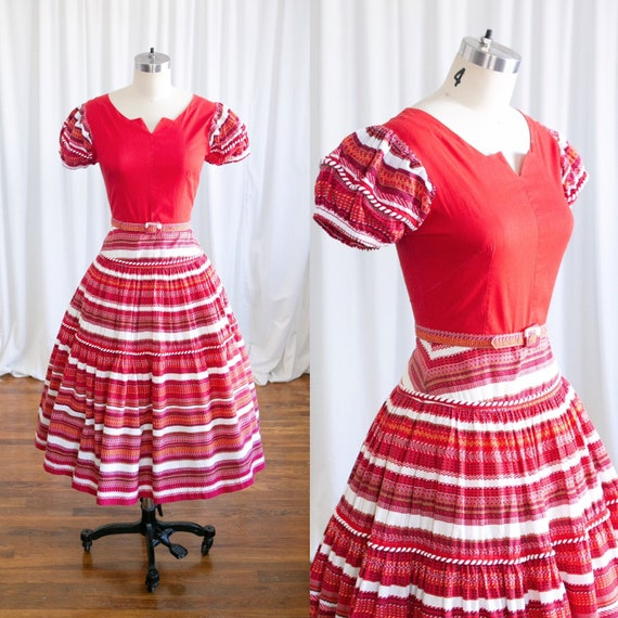 Feliz Navidad dress | vintage 40s dress | 1940s co