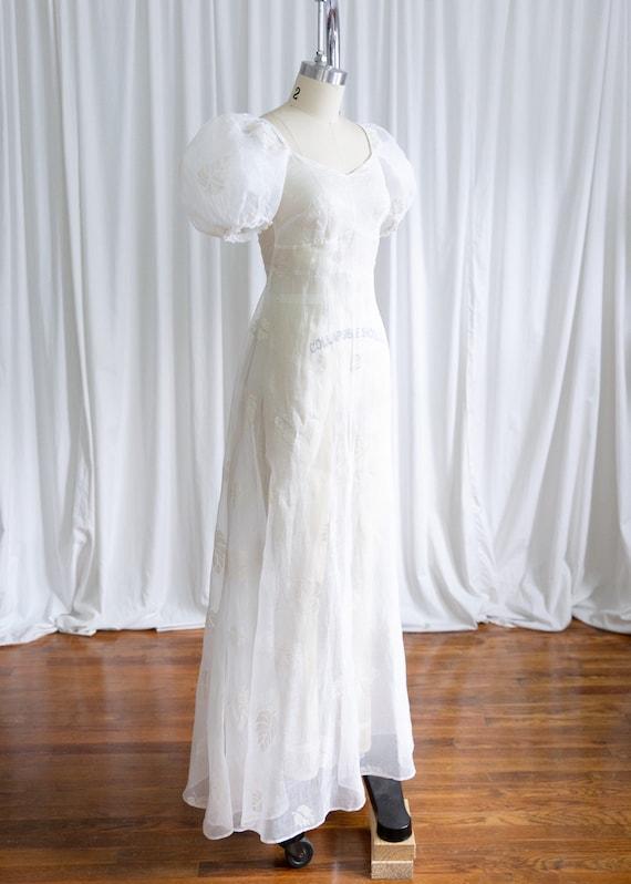 Glynne dress | vintage 30s dress | 1930s sheer wh… - image 6