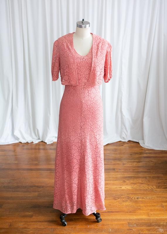 Sweet Rose dress   vintage 30s dress   1930s pink… - image 2