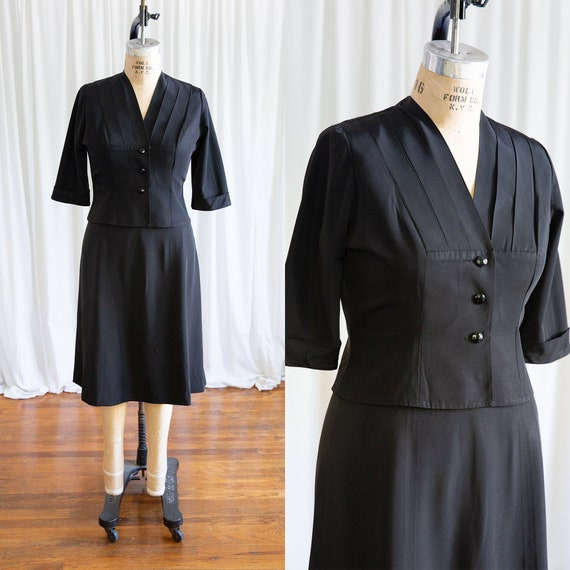 By Your Leave suit | vintage 40s jacket & skirt |