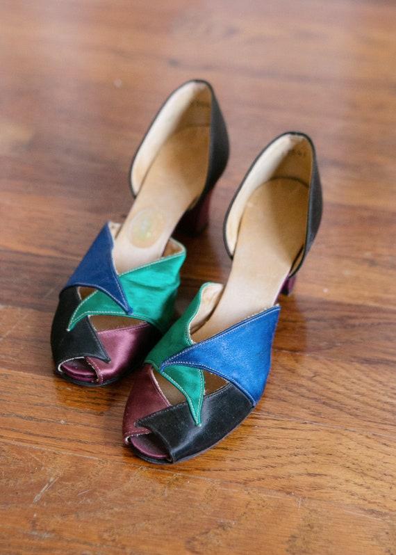 Deirdre shoes | vintage 30s satin shoes | 1930s sa