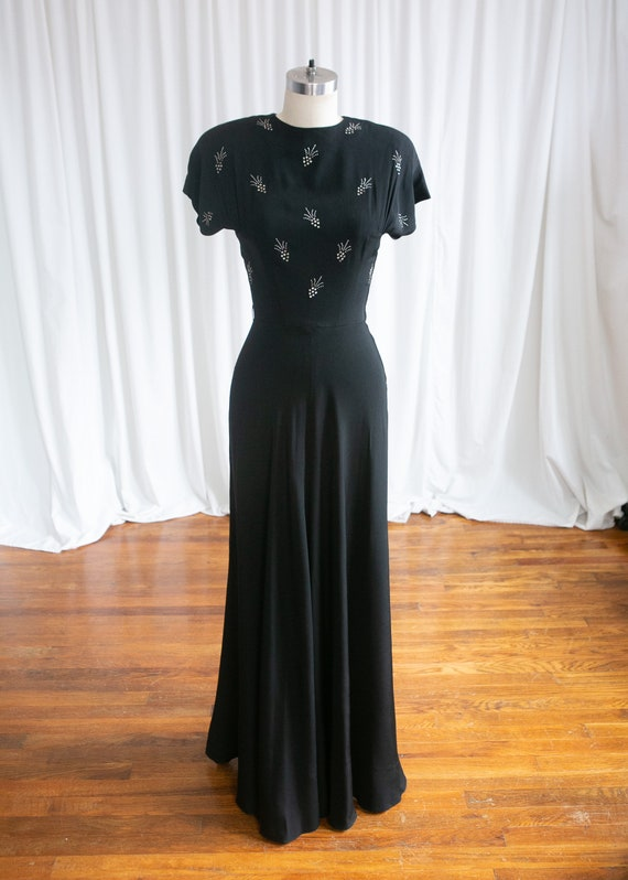Wish Upon A Star gown | vintage 40s evening gown … - image 2