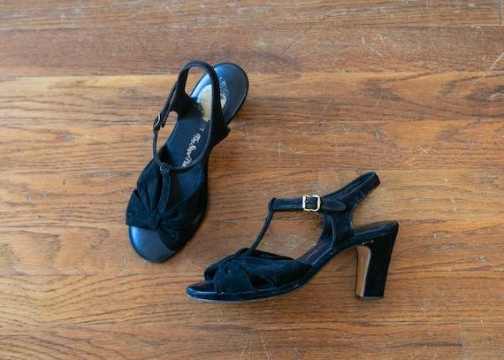 Jessica sandals | vintage 70s heels | 1970s black