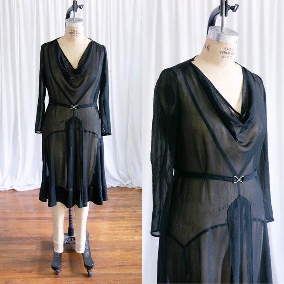 Whisper of More dress | vintage 30s dress | 1930s