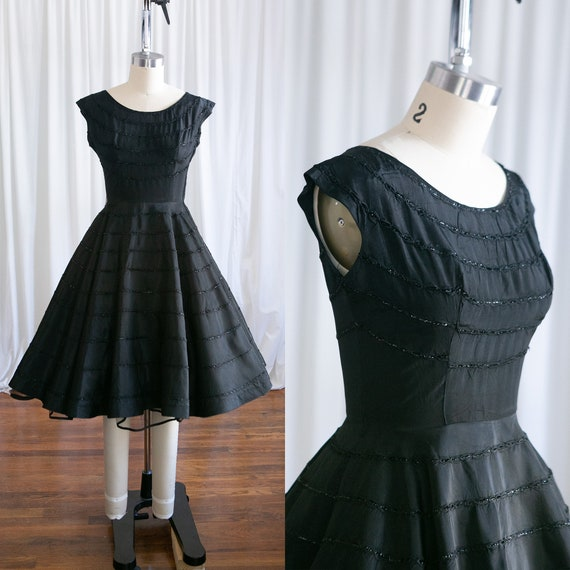 Limerence dress | vintage 50s dress | 1950s black