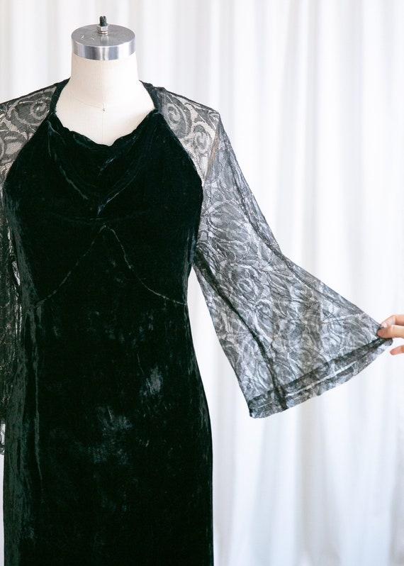 Enigma gown | vintage 30s velvet gown | 1930s bla… - image 4