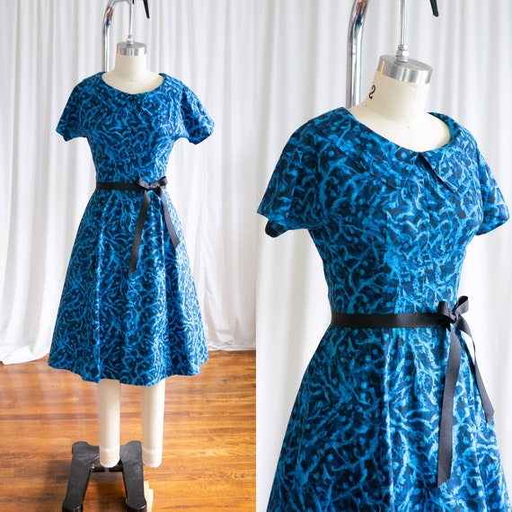 Under The Sea dress | vintage 50s dress | 1950s bl