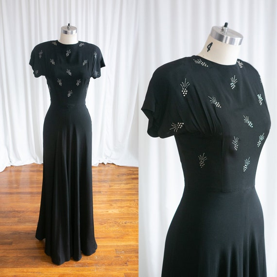 Wish Upon A Star gown | vintage 40s evening gown |
