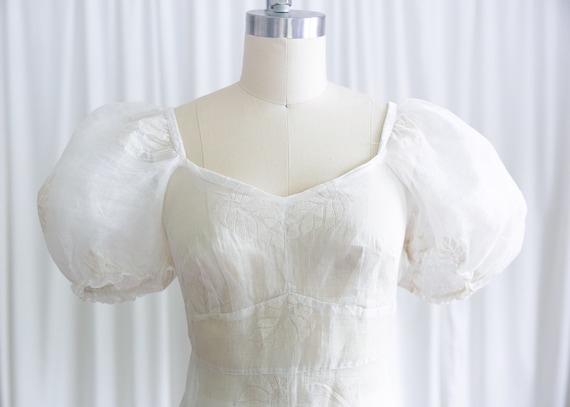 Glynne dress | vintage 30s dress | 1930s sheer wh… - image 5