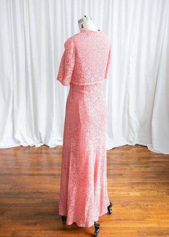 Sweet Rose dress   vintage 30s dress   1930s pink… - image 6