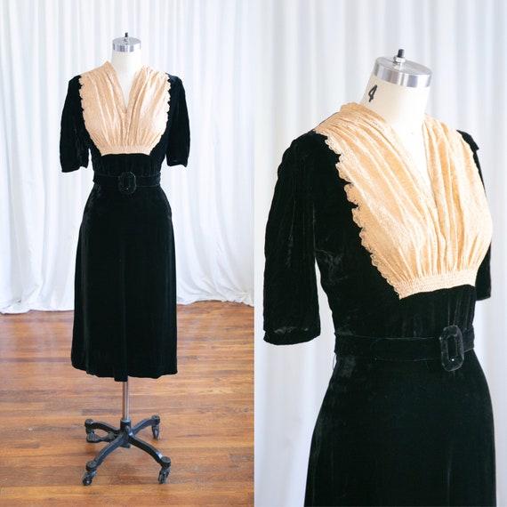 Fatal Attraction dress | vintage 30s dress | 1940s