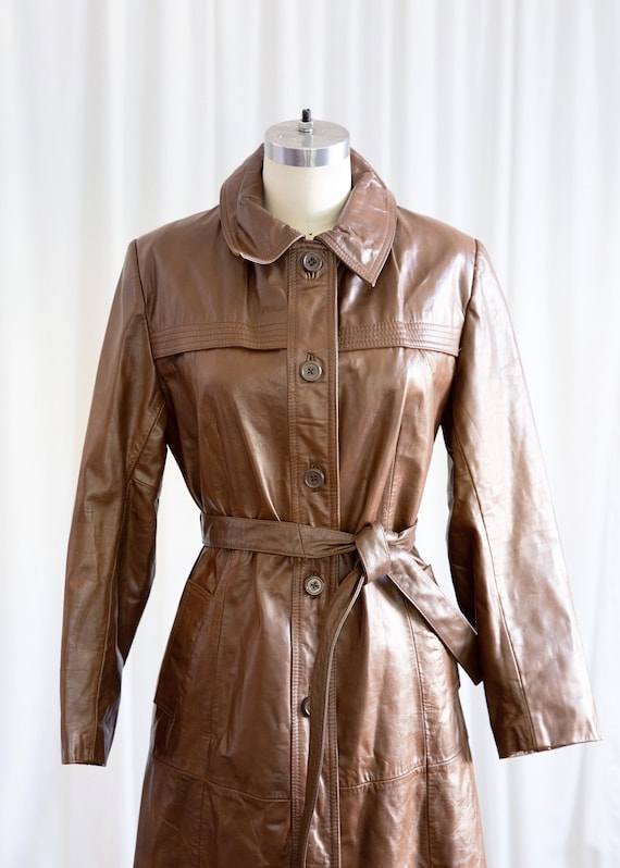 Live & Let Die coat | vintage 70s leather coat | … - image 3