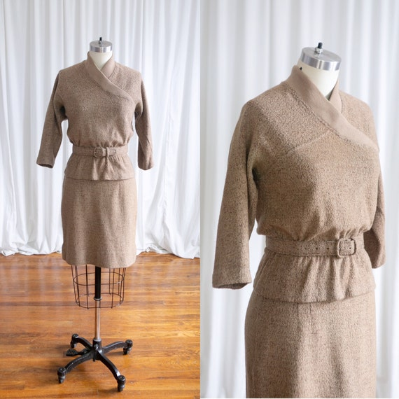 Hearthside knit set | vintage 1950s sweater set |