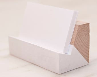 Maple Business Card Holder