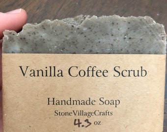 Vanilla Coffee Scrub handmade soap