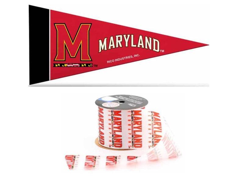 University of Maryland Terrapins Licensed Ribbons /& Mini Pennants