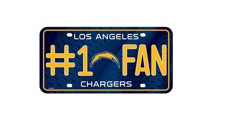 c8ae6e5b Los Angeles Chargers NFL #1 Fan Metal License Plate/ Auto Tag