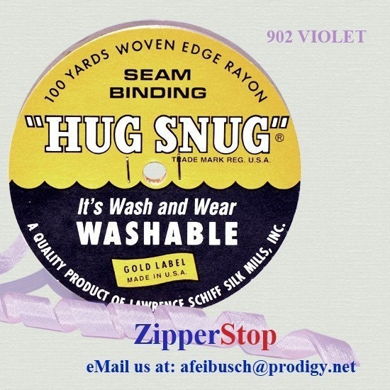 VIOLET Hug Snug Seam Binding 100 Yard Roll 1/2 Wide