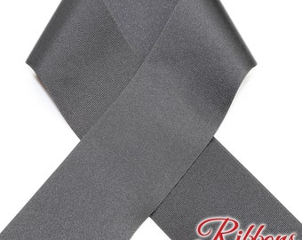 BLACK - 3 inch Grosgrain Ribbon  - 100% Polyester - Ribbon By the Yard - Cheer Bow & Hair Bow Ribbon