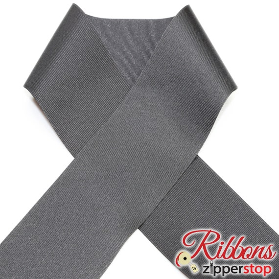 Cheer Bow BLACK 3 INCH Grosgrain Polyester Ribbon 10 yard spool MADE IN USA