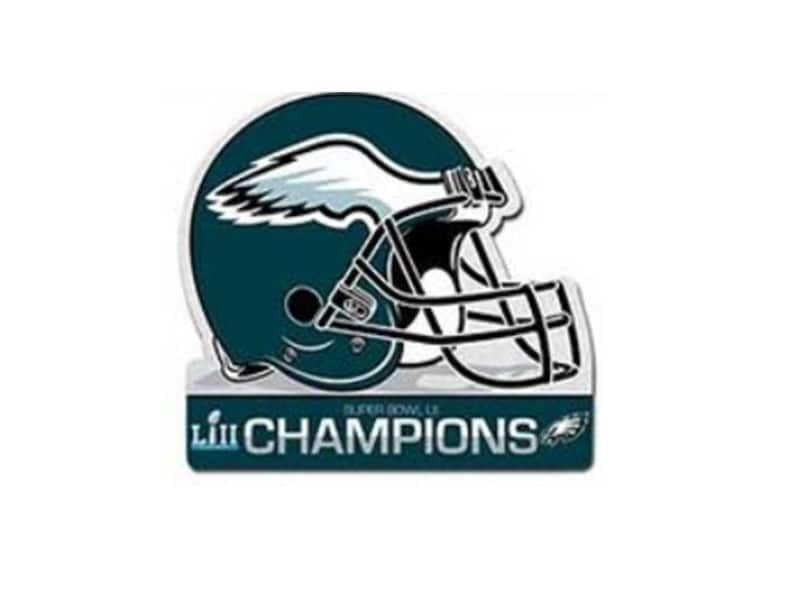 Philadelphia Eagles Super Bowl LII 52 Champions Die Cut Helmet  0cf202bf7