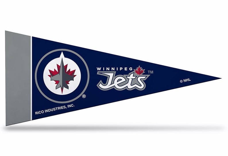 2e09886ed92 Winnipeg Jets Licensed NHL Mini Pennants 4 x 9