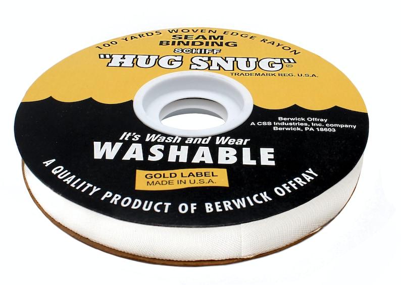 Chalk White Hug Snug Seam Binding 1/2   100% Woven-Edge image 0