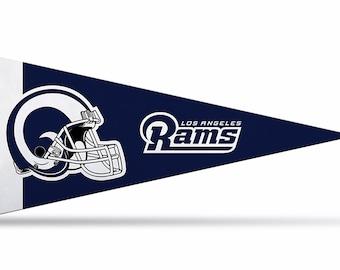"8-Pack Los Angeles Rams NFL Mini Pennants, 4"" x 9"""