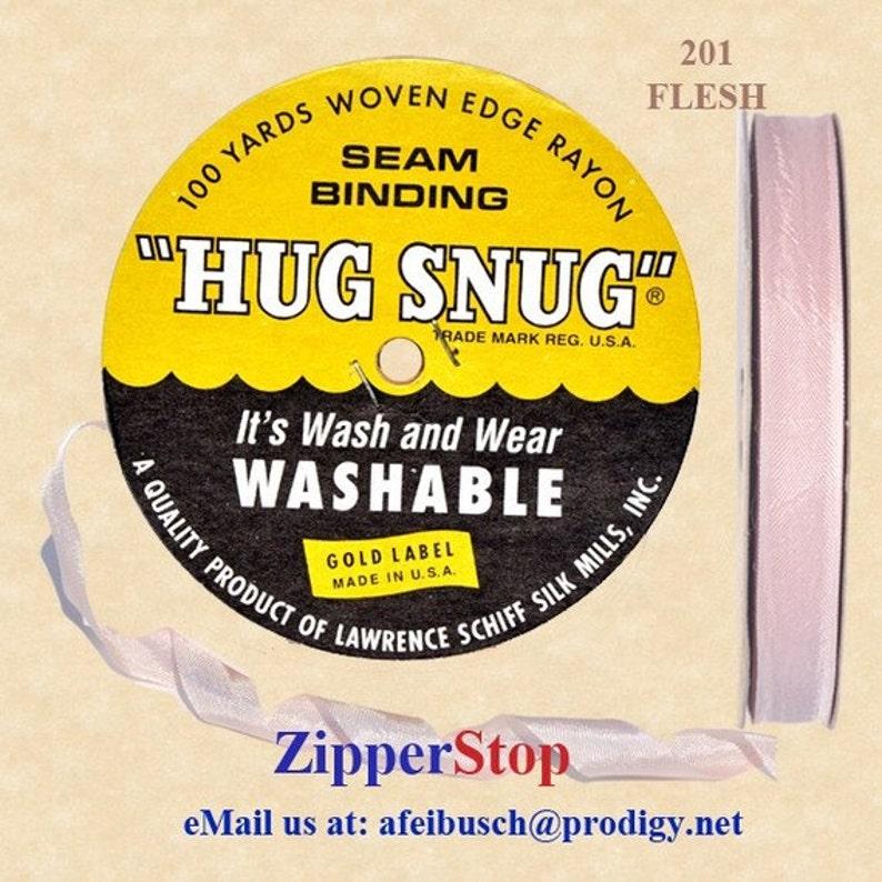 HUG SNUG SCHIFF Woven Edge Seam Binding 100/% Rayon 100 YD ROLL JADE GREEN