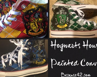 Harry Potter House Painted Converse