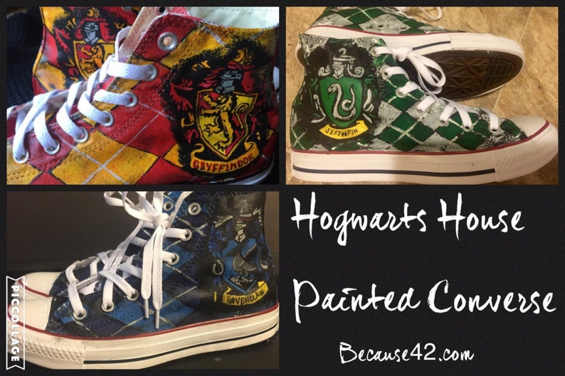 Harry Potter House Painted Converse image 0