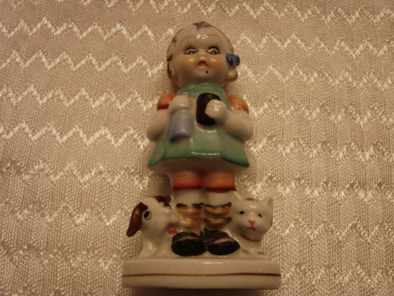 No sympathy for the patriarchy antique handpainted figurine