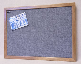 Ordinaire Large Framed Gray Fabric Bulletin Board   Grey Burlap Pin Board, Wood  Frame, Recycled Fabric   Office Decor / Memo Board / Message Board