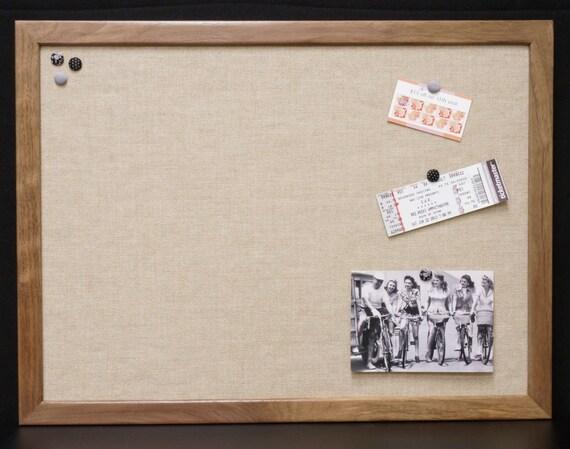 Large Framed Fabric Bulletin Board Burlap Board Wood Frame | Etsy