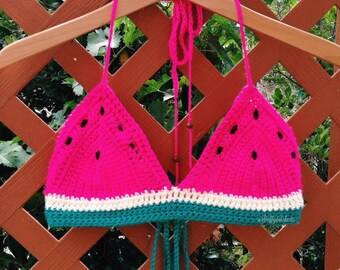 Watermelon Crochet Top