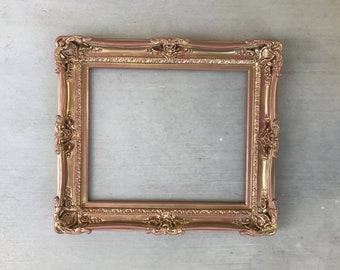 Picture Frame 16x20 Vintage Antique Style Ornate Baroque Bronze Gold Black 278