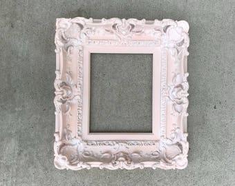 8x10 Shabby Chic Pink Frame Baroque Frame Wedding Frames Etsy