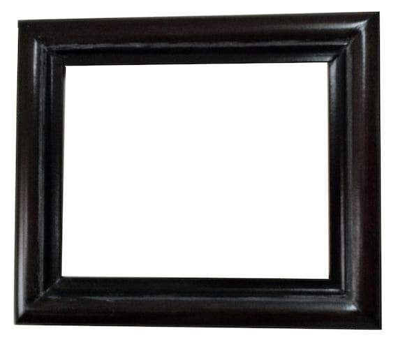 8x10 Dark picture frame wood frames mirror | Etsy