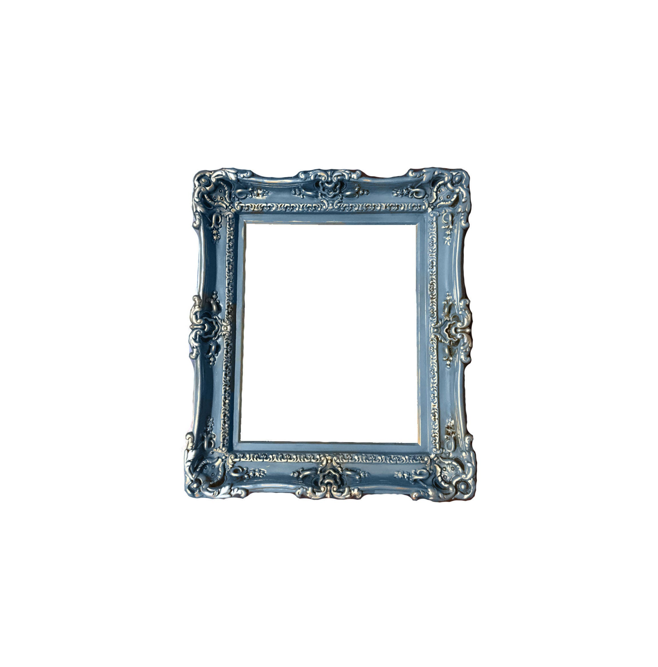 20x24 Vintage Blue Shabby Chic Frames Baroque Frame for | Etsy