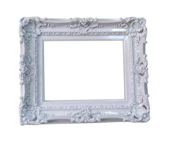 12x16 Shabby Chic White Frame Decorative Baroque Wall Mirror Etsy