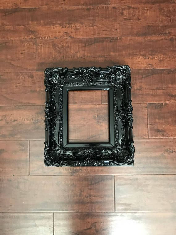 8x10 Black Frame Baroque Frame Wedding Frames Wall Picture Etsy