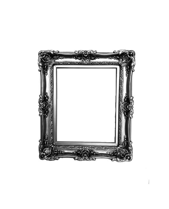 16x20 Silver Steel Frames Baroque Frame Frame For Canvas Etsy