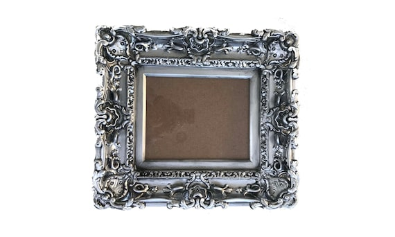 8x10 Antique Silver Frame Style Baroque Frame Picture Frame Etsy
